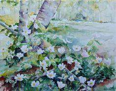 Unsere verkauften Aquarelle und Pastelle im Jahr 2015 | Frühling im Wald (c) Aquarell von Hanka Koebsch