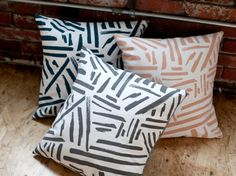 Navy Marks 18 pillow-READY TO SHIP by londontierney on Etsy