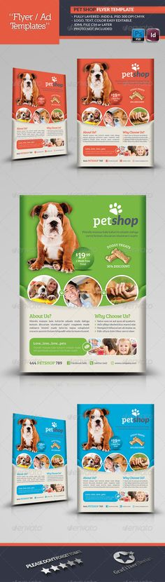 Pet Shop Flyer Template  #GraphicRiver        Pet Shop Flyer Template  Fully layered INDD   Fully layered PSD   300 Dpi, CMYK   IDML format open Indesign CS4 or later  Completely editable, print ready  Text/Font or Color can be altered as needed  All Image are in vector format, so can customise easily  Photos are not included in the file  Font File: Lato Font:  .fontsquirrel /fonts/lato Bree-serif:  .fontsquirrel /fonts/bree-serif   Help.txt file     Created: 7August13…