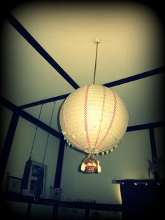diy ikea lamp to hot air balloon for N's room