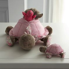 Stuffed activity turtle - Girl - PINK/MULTICOLORED - Jacadi Paris