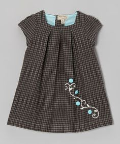 Take a look at this Navy & Black Plaid Wool-Blend Dress - Infant, Toddler & Girls by P'tite Môm on #zulily today!