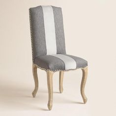 One of my favorite discoveries at WorldMarket.com: Charcoal Belmond Upholstered Dining Chairs Set of 2