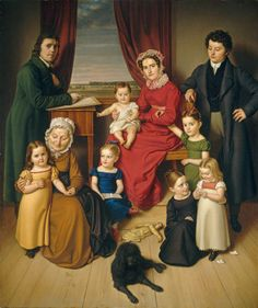 German 19th Century An Artist and His Family c. 1830