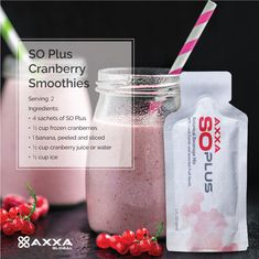 #SOPlus #Cranberry Smoothies #Recipe Cranberry Smoothie, Cranberry Juice, 2 Ingredients, Health And Nutrition, Smoothies, Seeds, Beverages, Canada, Smoothie