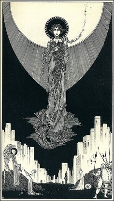 St. Dorothy by Harry Clarke (1889–1931) from Selected Poems of Swinburne, 1928