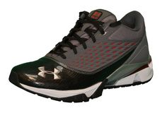 UNDER ARMOUR Men's UA T2G III Trainer Shoes-Dark Gray/Black/Red(NO LID)
