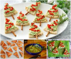 Pita Bread Christmas Tree Appetisers