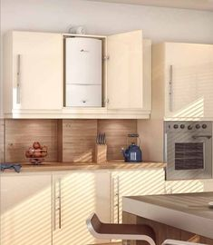 Worcester Greenstar 25Si hung on kitchen wall