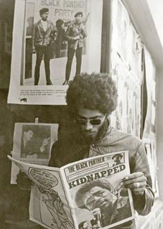 A member of the Black Panther Party in Seattle, Washington.
