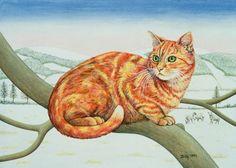 Chats en peintures serie C
