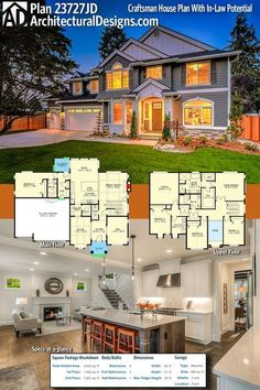 Architectural Designs Modern Farmhouse Plan 23727JD has 5 beds and 4 baths and over 3,600 square feet of heated living space. Ready when you are. Where do YOU want to build? #23727JD #adhouseplans #architecturaldesigns #houseplan #architecture #newhome #newconstruction #newhouse #homedesign #dreamhome #dreamhouse #homeplan #architecture #architect #houses #house #home