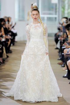 2dfe8d85664a Ines Di Santo – DEBORAH Long sleeve jewel neckline illusion gown with  natural waist