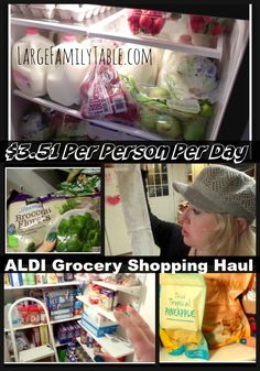 $3.51 Daily Per Person ALDI Grocery Shopping Haul including Two Meal Plan and More!