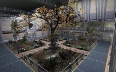 Post with 26670 views. Fallout Four, Fallout 4 Mods, Fallout Art, Fallout 4 Settlement Ideas, Fallout 4 Vaults, Base Building, Fall Out 4, Post Apocalypse, Atrium