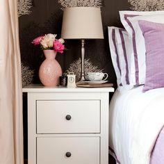Cream and lavender bedroom   Bedroom decorating ideas   housetohome.co.uk