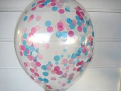 Confetti Filled Balloons. Light Blue, Turquoise, Light Pink, Hot Pink. by brightsoslight on Etsy