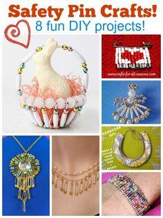 8 fun diy safety pin crafts