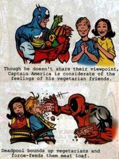 El Descanso del Escriba: Deadpool y los veganos