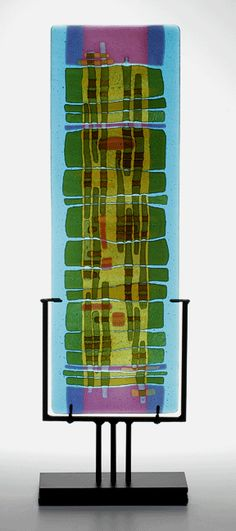 """Aqua Verde"" - Lynn Latimer, Latimer Glass Studio - fused glass"