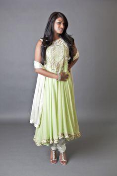 Lime Green Shimmer Halter A-line Diwali Fashion, Indian Fashion, Vintage Trends, Bridal Fashion, Womens Fashion, Fashion Trends, End Of Season Sale, New Trends, Bridal Style