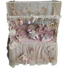 Rare Antique Original 'Baby Shop' Presentation with Bisque ByeLo