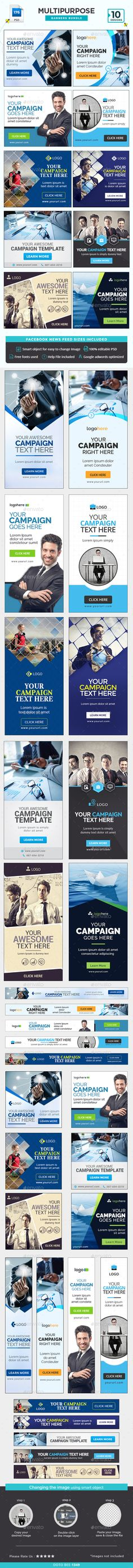 Banners & Ad Templates from GraphicRiver Web Design Trends, Ad Design, Graphic Design, Banner Template, Web Banner, Mailer Design, Display Ads, Social Media Design, Social Media Graphics