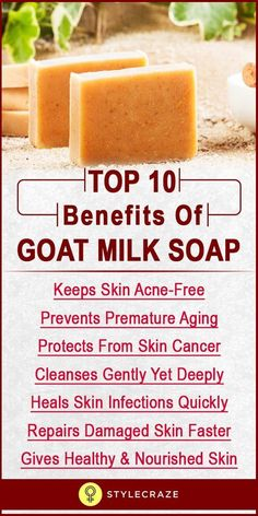 When it comes to all natural soaps with amazing benefits, goat milk soap tops the list. It is made of pure goat milk along with certain other natural ingredients like coconut oil, olive oil, etc., which makes it an excellent alternative to regular synthetic soaps. Want to know how this handcrafted soap can give you a beauty boost? Read on to know more: