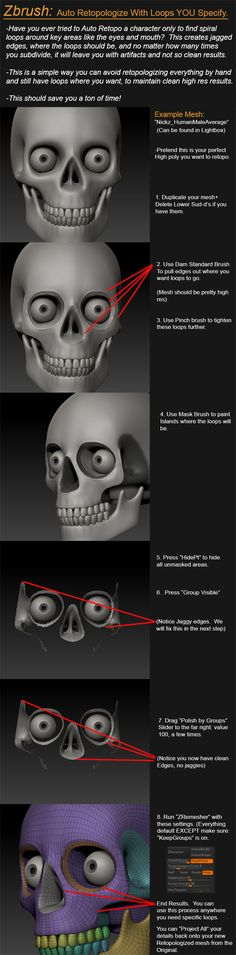 ZBrush Tutorial: Auto Retopologize With Specified Loops