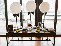My Sweet Event , Melbourne love this blk & white set-up