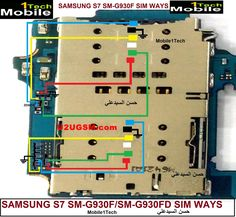 Samsung Galaxy Insert Sim Card Problem Solution Jumper Ways you can change sim ic also and may can apply jumpers after removing ic Galaxy S7, Samsung Galaxy, Sony Mobile Phones, Electronic Schematics, Mobile Phone Repair, Problem And Solution, Jumpers, Mobiles, Sims
