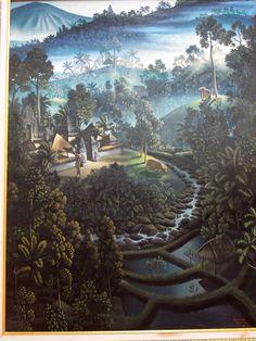 VILLAGE LANDSCAPE, by Indonesian Artist I Gusti Agung Wirinala