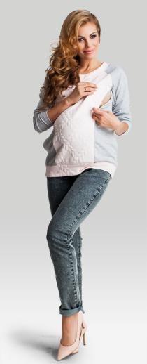Pastel хлопковый трикотажный топ из комбинированной ткани для беременных и кормящих