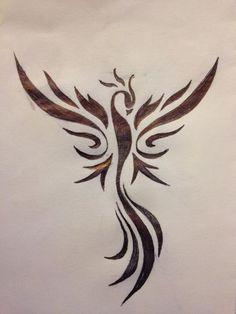 Phoenix Phoenix Tribal Tribal designed by Fabrizio Biancofiore Tattoo . - Phoenix Phoenix Tribal Tribal designed by Fabrizio Biancofiore Tattoo - Phoenix Tattoo Feminine, Tribal Phoenix Tattoo, Tribal Dragon Tattoos, Small Phoenix Tattoos, Phoenix Bird Tattoos, Phoenix Tattoo Design, Small Tattoos, Phoenix Design, Simple Phoenix Tattoo