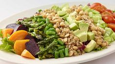 Want to try the Cheesecake Factory vegan Cobb salad? This will satisfy you til the last bite, it is super healthy and tasty, and at the end Vegan Recipes Videos, Salad Recipes Video, Healthy Salad Recipes, Eat Healthy, Sin Gluten, Gluten Free, Dairy Free, Orzo, Cheesecake Factory Vegan