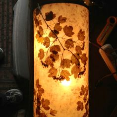 Wall light with 2 bulbs Mica and cranberry bush branches www.highbeams.com