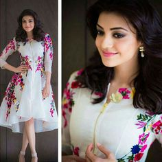 GET THIS LOOK: Kajal Agarwal looks so gorgeous in this white dress :) <3 Call/whatsapp 919600639563 for booking #instagood #repost #lehengas #salwars #indianbrides #follow4follow #instafashion #instamood #designer #like4like #amazing #bridalcouture #indiantraditional #clothing #followus #stylish #divas #bollywood #indianethnic #sarees #50likes #womensfashion #trendy #womenswear #kajalaggarwal arwal #southindianfashion #girl #webstagram #myfashionblog #awesome by theivoryneedle.in