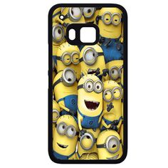 Minions Smile Group HTC Phonecase For HTC One M7 HTC One M8 HTC One M9 HTC One X