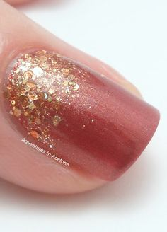 Glittery fall nails :) have the perfect color to recreate this! though any color would look good