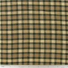 CCW10-21- Brown Homespun Plaid Fabric