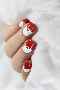Marine Loves Polish: Nailstorming - Pokémon Go ! - color block - studs nail art