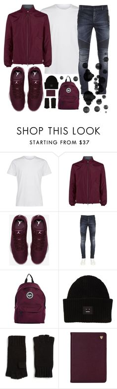 """✔️✔️✔️"" by sanela-enter ❤ liked on Polyvore featuring Z Zegna, NIKE, Balmain, Hype, Acne Studios, Saks Fifth Avenue Collection, Aspinal of London, men's fashion and menswear"