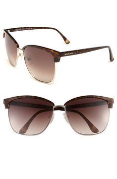 ba5db3b22b3f Michael By Michael Kors Griffin Retro Sunglasses in Brown (tortoise) - Lyst