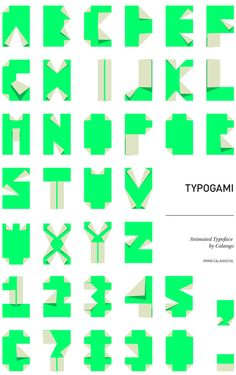 check out animation of the origami typeface