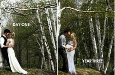 Wedding day photo & pregnancy photoshoot .