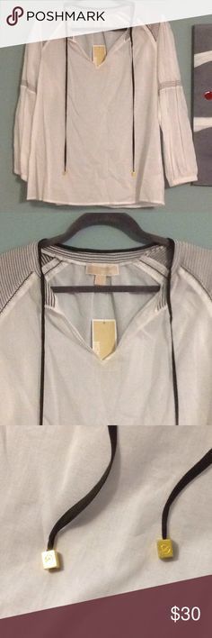 Spotted while shopping on Poshmark: NWT Michael Kors peasant top! #poshmark #fashion #shopping #style #MICHAEL Michael Kors #Tops