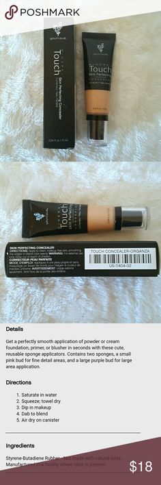 Organza - Touch mineral skin perfecting concealer New never used Younique - Blend away blemishes, scars, even tattoos with this water-resistant, satin-finish concealer that lasts for hours and lets your natural beauty shine through. Younique  Makeup Concealer