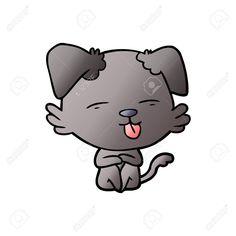 cartoon dog sticking out tongue #affiliate #dog #cartoon #tongue #sticking in 2020 Cartoon dog Kitty Baby gift basket
