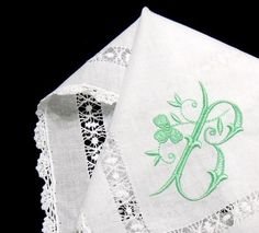 Hidden shamrock in monogram hankerchief