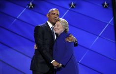 This picture of Hillary Clinton and Barack Obama